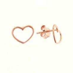orecchini cuore traforati in oro rosa De Stefano