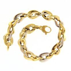 Bracciale donna maglia catena oro