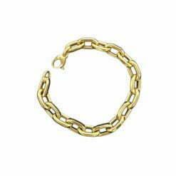 Bracciale catena media in oro giallo 18kt linea De Stefano gioielli , gr. 8,90 lunghezza del bracciale 19 cm .