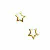 orecchini cerchio sagoma stella