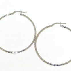 orecchini cerchio diamantato in oro