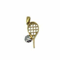 ciondolo racchetta tennis in oro