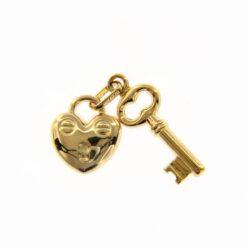 ciondolo chiave e lucchetto oro giallo