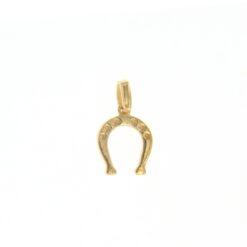 ciondolo ferro di cavallo piccolo oro giallo