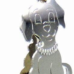 ciondolo cane oro bianco De Stefano